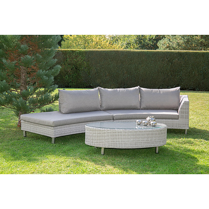 Loungemöbel-Set (3-tlg., Polyrattan)