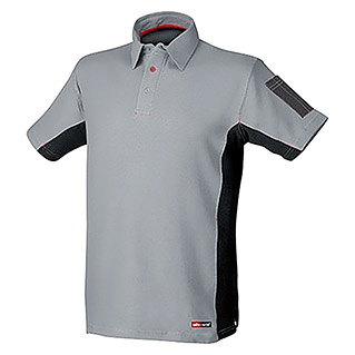 Industrial Starter Polo Stretch (XL, Gris/Negro)