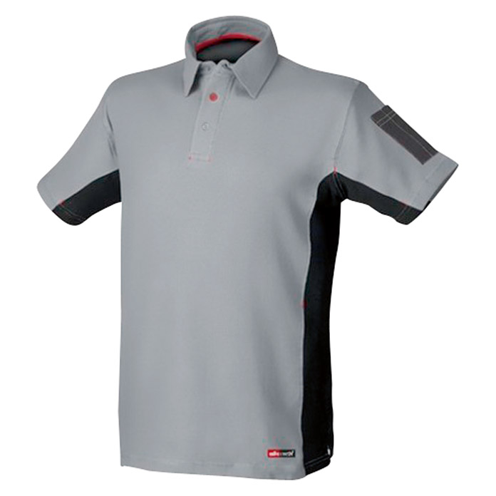 Industrial Starter Polo Stretch (M, Gris/Negro)