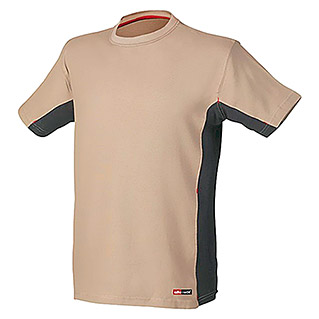 Industrial Starter Camiseta Stretch (XL, Beige)