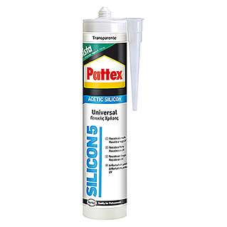 Pattex Silicona Silicon 5 (Transparente, 280 ml)