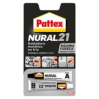 Pattex Adhesivo bicomponente Nural 21 metal (2 x 22 ml)