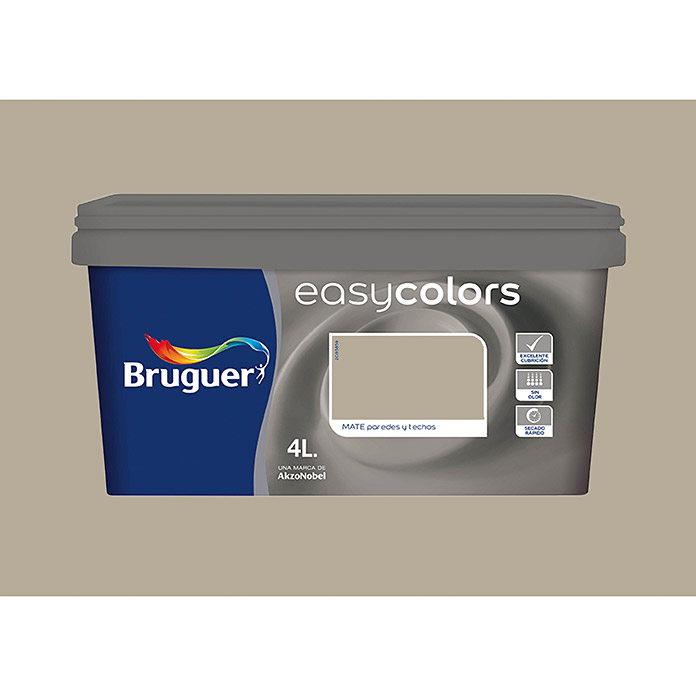 bruguer pintura pl stica easy colors arena 4 l mate