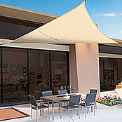 Nortene Toldo vela Sunnet Kit Triangular (3,6 x 3,6 m, Beige)