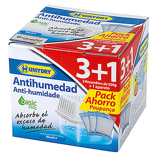 Humydry Pack deshumidificador Basic (3 uds.)