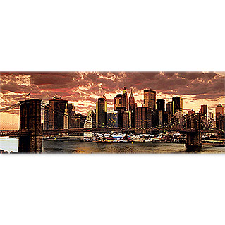 Leinwandbild  (Nightly Skyline, 180 x 60 cm)
