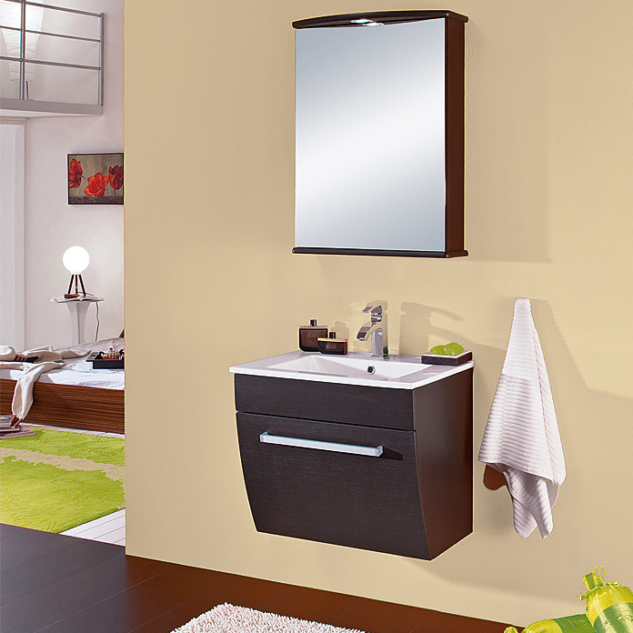 salsa orion waschtisch mit unterschrank breite 60 cm wenge matt bauhaus. Black Bedroom Furniture Sets. Home Design Ideas