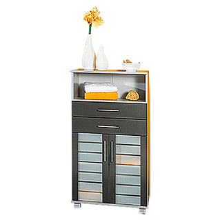 Schildmeyer Niko Highboard  (Silber/Anthrazit)