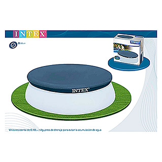 Intex Cubierta protectora redonda Easy Pool (Ø x Al: 305 cm x 10 mm, Azul)