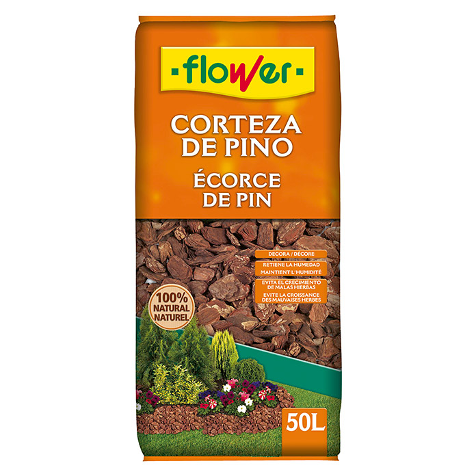 Flower Virutas decorativas Pino 30/50 (50 l)
