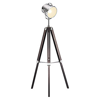 Trio Lighting Lámpara de pie Antwerp (1 luz, 42 W, Cromo, E27, Altura: 150 cm)