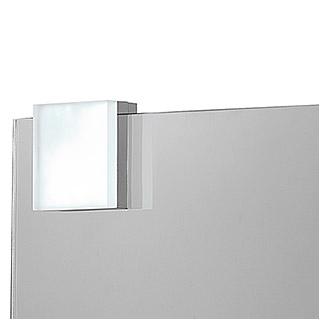 ACB Iluminación Aplique de pared LED Yaku (5 W, Cromo, L x An x Al: 7,5 x 7,5 x 3 cm, Color de luz: Blanco neutro)