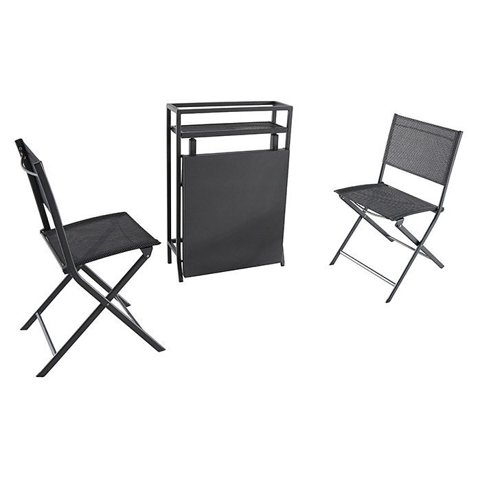 sunfun maja balkonm bel set 3 tlg metall anthrazit. Black Bedroom Furniture Sets. Home Design Ideas
