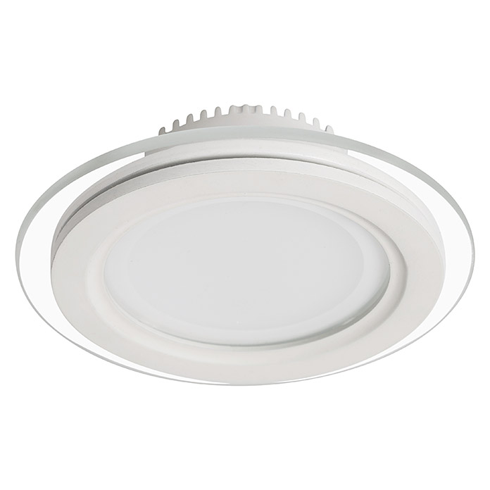 Sulion Foco downlight LED empotrable Down Glass Round (6 W, Blanco neutro, 9,5 x 9,5 cm, Blanco)