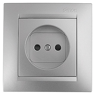 Simon Enchufe Bipolar S15 (Aluminio, En pared)