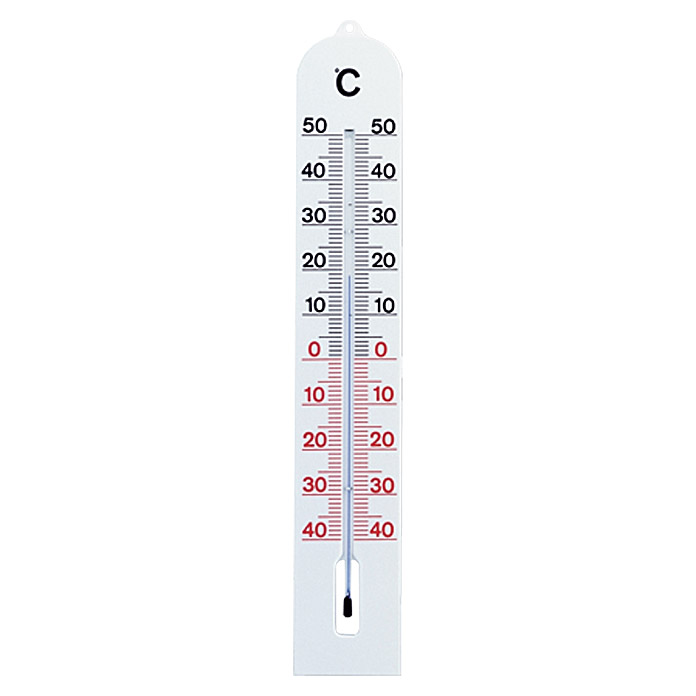 THERMOMETER WEIß   40X6,8 cm