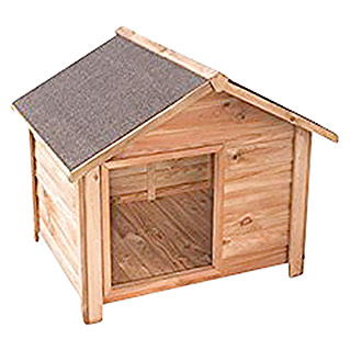 Forest-Style Caseta para perro Willow M (Natural, 120 x 114 x 100 cm, Madera de pino)