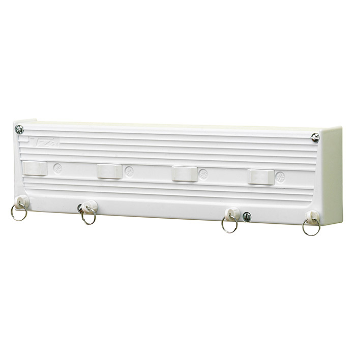 Tendedero de pared TZ S4 (Longitud cuerda de tender: 20 m, Blanco, Ancho: 33,5 cm)