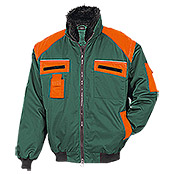 FORSTBLOUSON, GRUEN-ORANGE, m