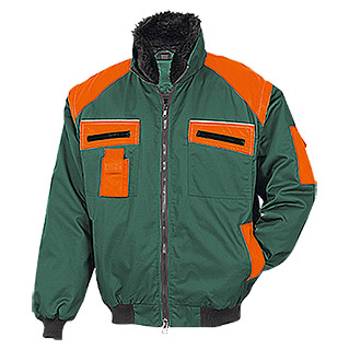 FORSTBLOUSON, GRUEN-ORANGE, L