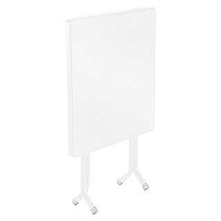 Mesa plegable (L x An: 70 x 70 cm, Blanco)