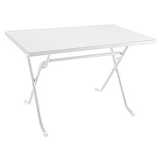 Mesa plegable (L x An: 115 x 70 cm, Blanco)