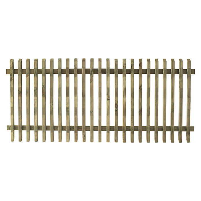 Forest-Style Valla de madera Pikasso (Natural, An x Al: 1,8 x 0,8 m)