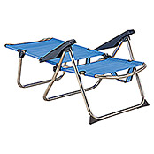Silla de playa reclinable (Ancho: 63 cm, Azul)