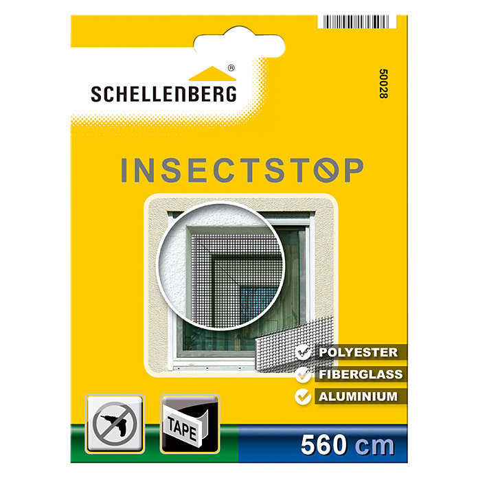 Schellenberg Insect Stop Cinta para mosquitera (560 x 280 cm, Mosquitera, Puede cortarse a medida)