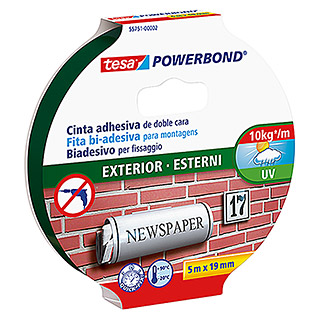Tesa Powerbond Cinta de doble cara Outdoor (5 m x 19 mm)