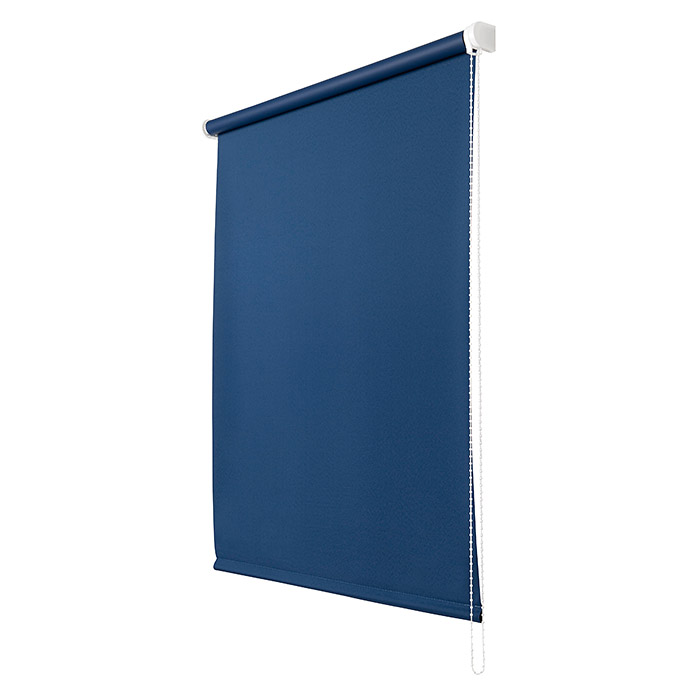 Estor enrollable Roll-up (An x Al: 140 x 250 cm, Azul, Opaco)