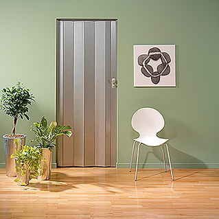 Grosfillex Puerta plegable Spacy Aluminio (Aluminio, 84 x 205 cm)