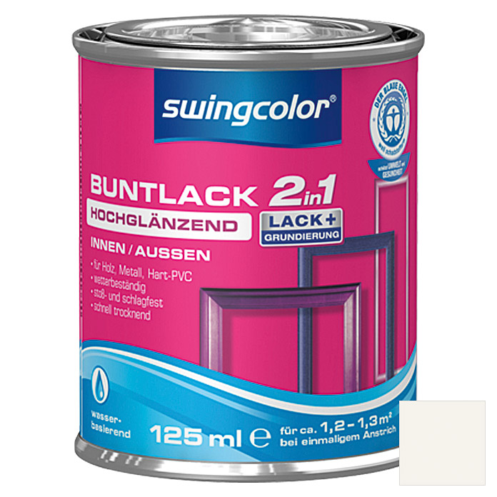 swingcolor 2in1 Buntlack  (Weiß, 125 ml)