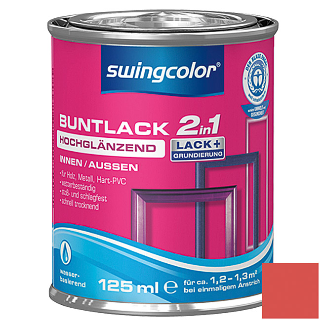swingcolor 2in1 Buntlack  (Feuerrot, 125 ml)