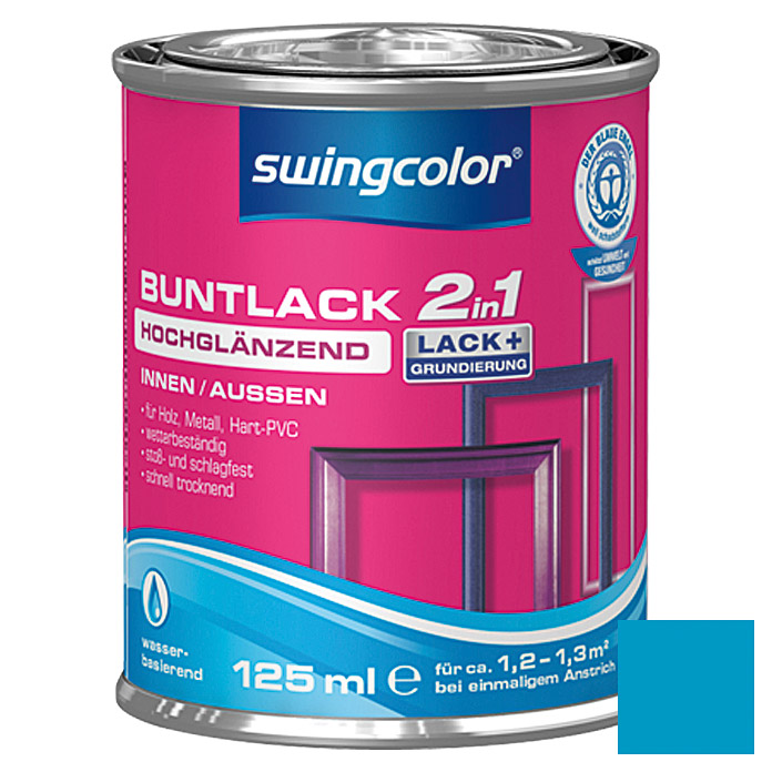 swingcolor 2in1 Buntlack  (Himmelblau, 125 ml)