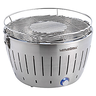 LotusGrill Barbacoa de carbón con poco humo (Acero inoxidable, Ø 34 cm)