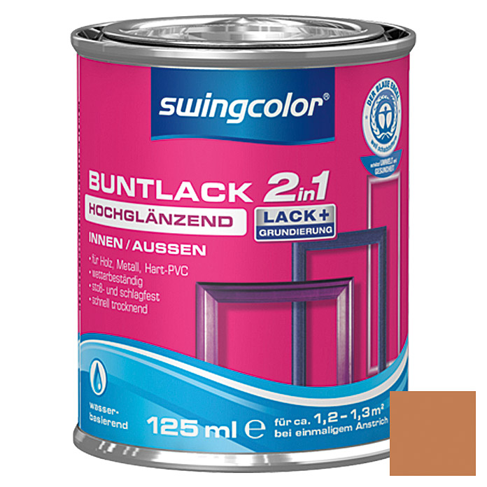swingcolor 2in1 Buntlack  (Ockerbraun, 125 ml)