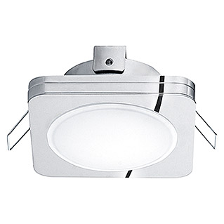 Eglo Foco downlight LED empotrable Pineda 1 95963 para exteriores (6 W, Color de luz: Blanco cálido, 82 x 82 mm, Color: Cromo)
