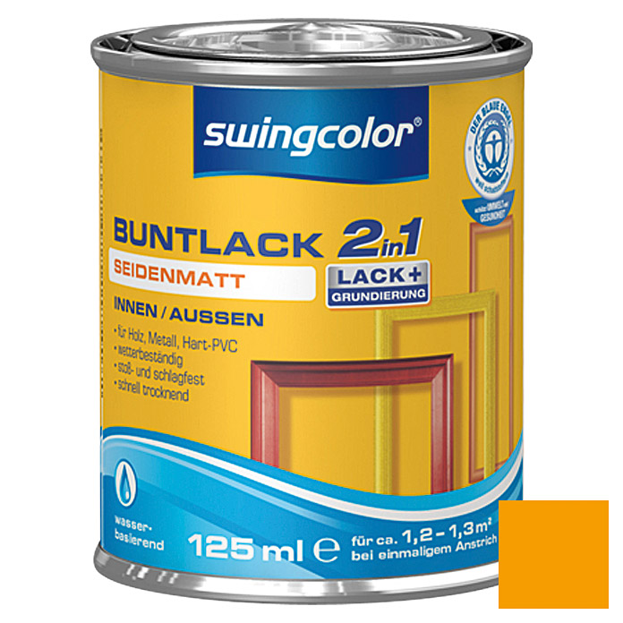 swingcolor 2in1 Buntlack (Melonengelb, 125 ml, Seidenmatt)