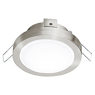 Eglo Foco downlight LED empotrable Pineda 95918 (6 W, Color de luz: Blanco cálido, L x An: 82 x 82 mm, Color: Níquel mate)