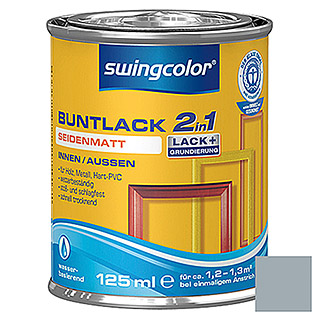 swingcolor 2in1 Buntlack  (Silbergrau, 125 ml)