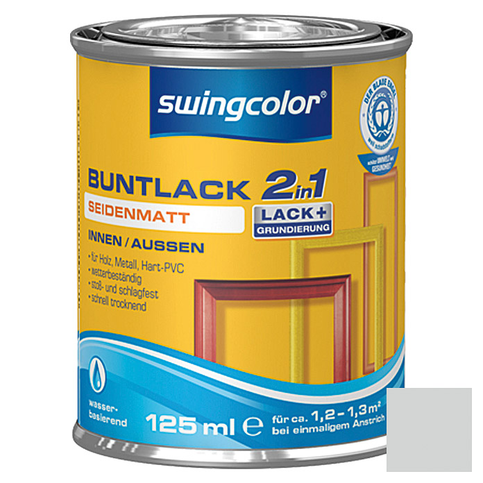 swingcolor 2in1 Buntlack (Lichtgrau, 125 ml, Seidenmatt)
