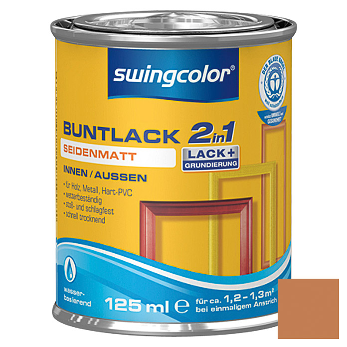 swingcolor 2in1 Buntlack (Ockerbraun, 125 ml, Seidenmatt)