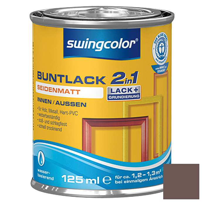 swingcolor 2in1 Buntlack (Schokobraun, 125 ml, Seidenmatt)