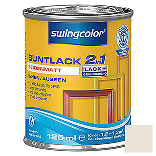 swingcolor 2in1 Buntlack  (Cremeweiß, 125 ml)