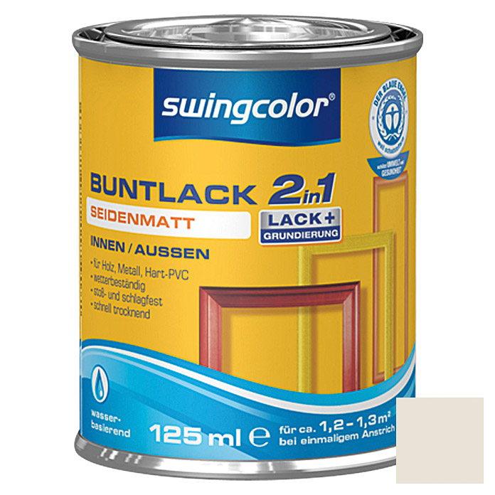 BUNTLACK 2IN1 SDM.WB125 ml CREMEWEISS   SWINGCOLOR