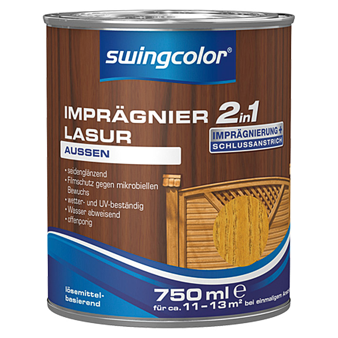 IMPRAEGNIERLASUR LB 2IN1 750 ml EICHE   SWINGCOLOR