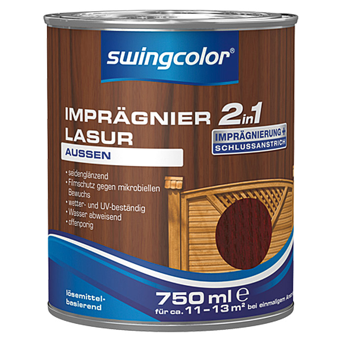 swingcolor 2in1 Imprägnierlasur  (Mahagoni, 750 ml)