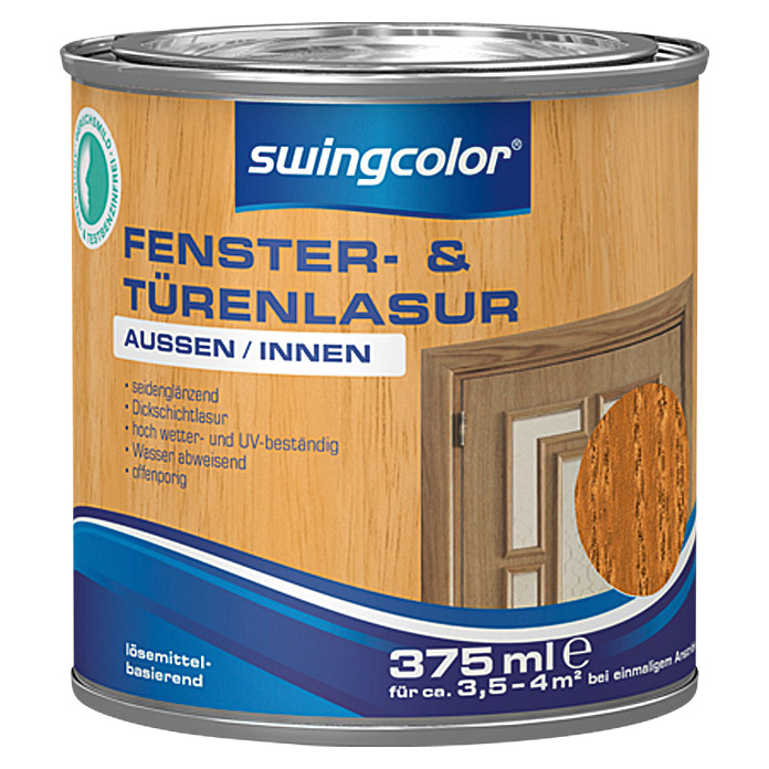 FENST.-U.TUERENLASURLB 375 ml TEAK      SWINGCOLOR