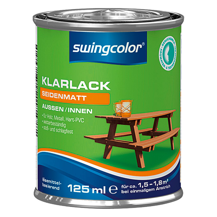 swingcolor Klarlack  (125 ml, Seidenmatt)